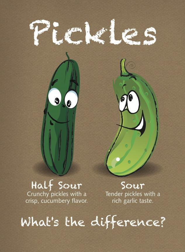 Half Sour vs. Sour Pickles