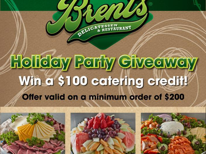 Brent's Deli holiday catering