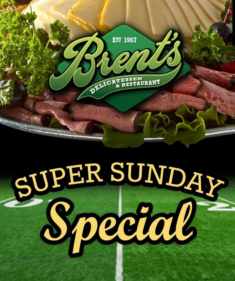 Brent's Deli Super Bowl party catering food restaurant delicatessen Northridge Westlake Village Los Angeles