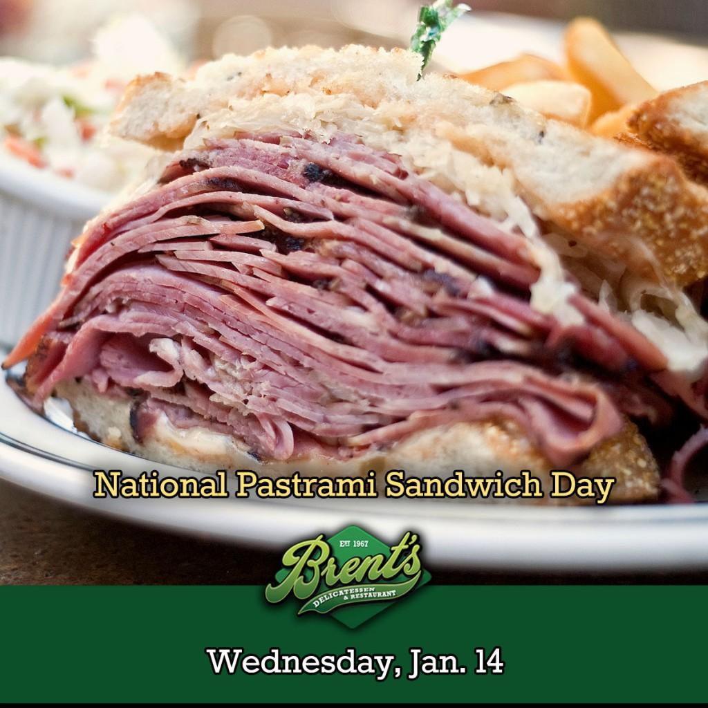 Brent's Deli National Pastrami Sandwich Day reuben delicatessen restaurant Northridge Westlake Village Los Angeles