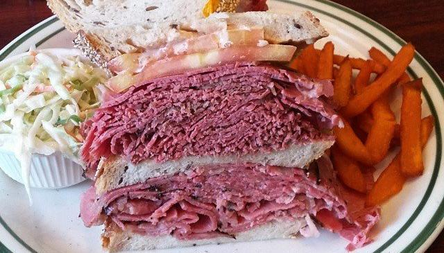 Brent's Deli pastrami corned beef sandwich Northridge Westlake Village restaurant delicatessen