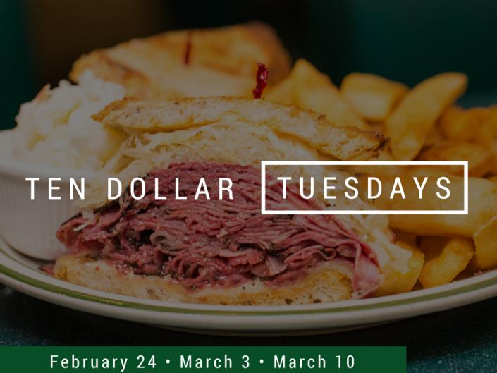 Brent's Deli Ten Dollar Tuesdays promotion restaurant delicatessen breakfast lunch dinner Northridge Westlake Village Los Angeles