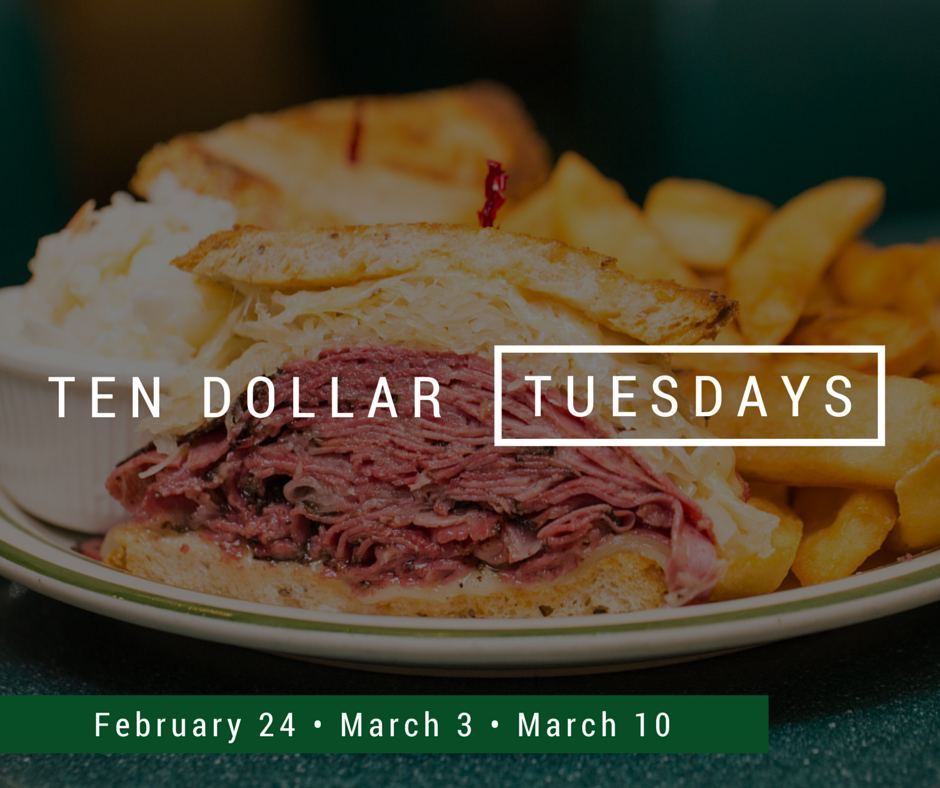 Brent's Deli Ten Dollar Tuesdays promotion restaurant delicatessen breakfast lunch dinner Northridge Westlake Village Los Angeles