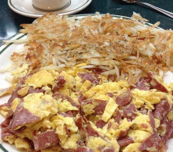 Brent's Deli salami eggs breakfast Northridge Westlake Village restaurant delicatessen