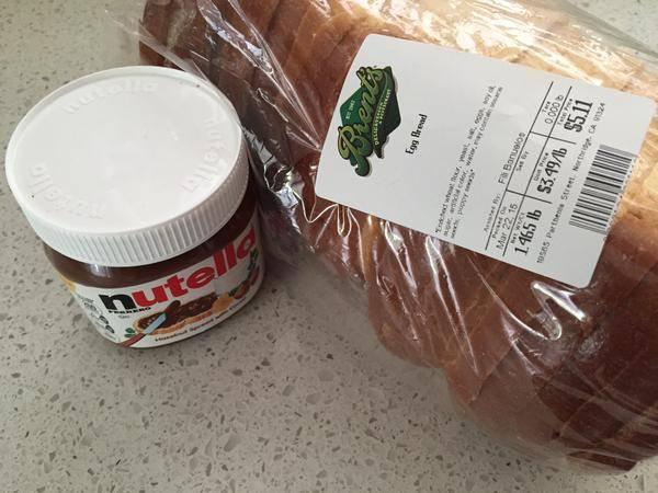Brent's Deli challah egg bread nutella Northridge Westlake Village Los Angeles restaurant delicatessen