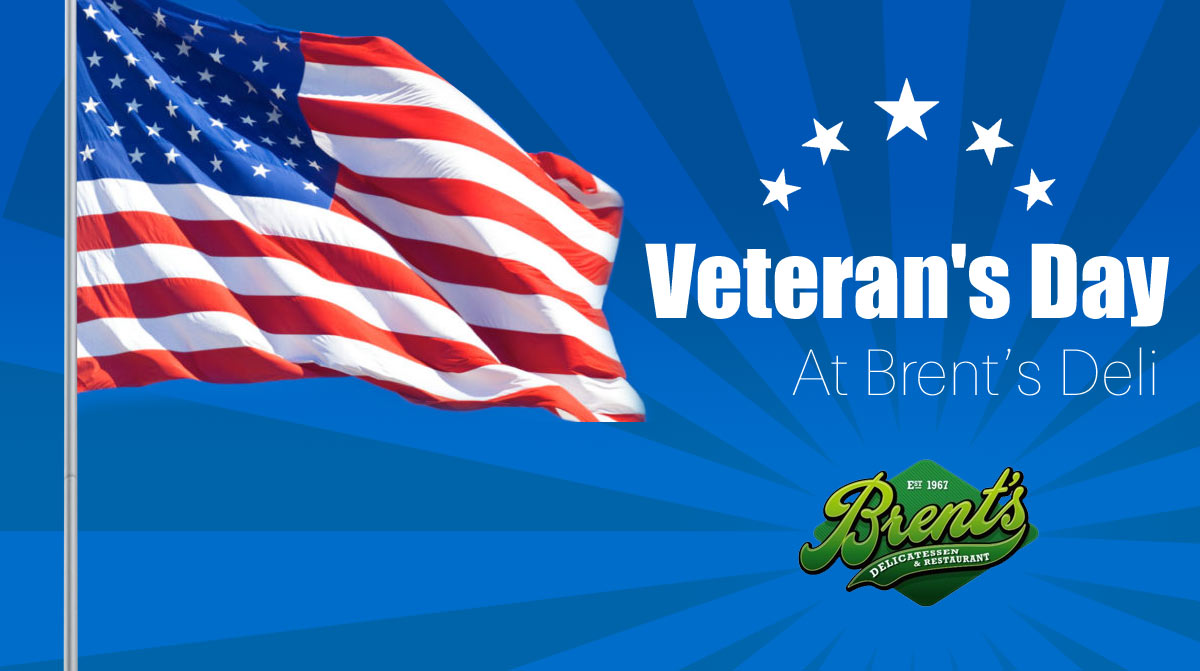 Veterans Day celebrate in Brent's deli Restaurant