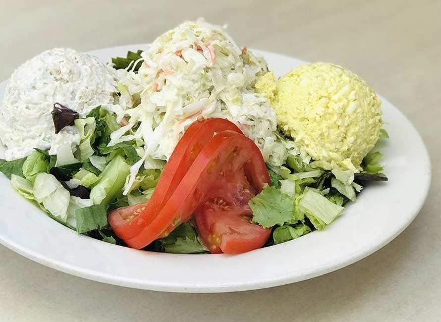 Tuna or Turkey Avocado Split Salad