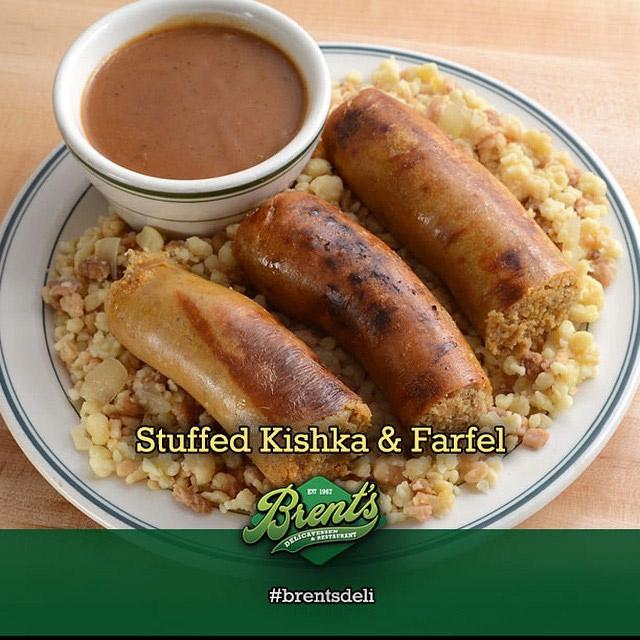 Stuffed Kishka and Farfel