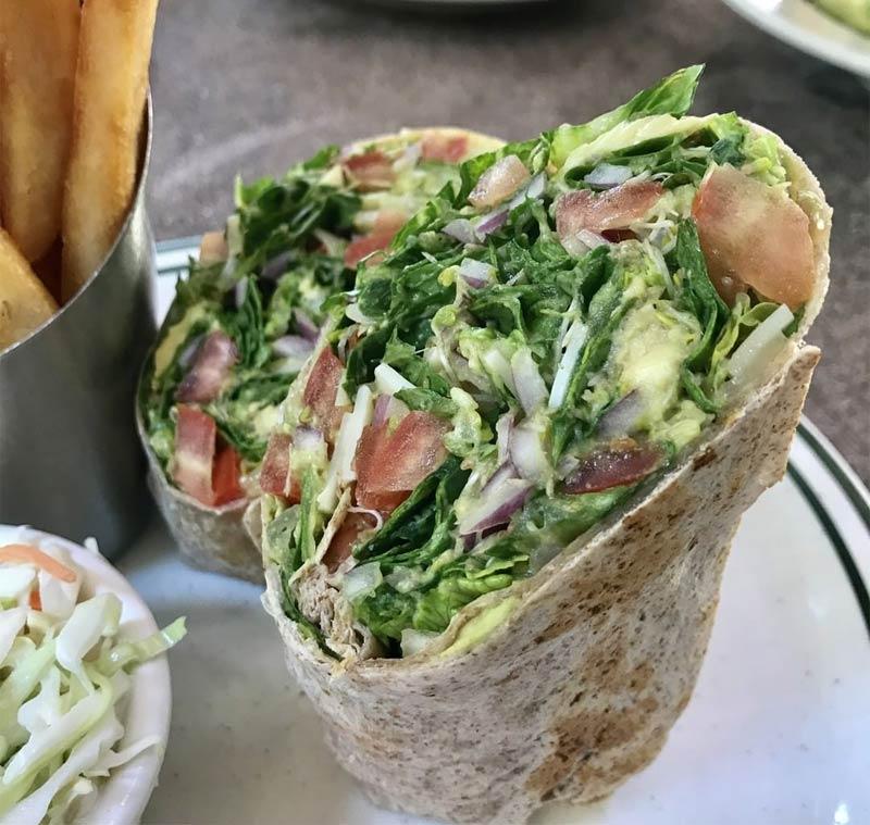 Veggie Wrap from Brent's Deli